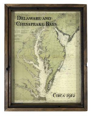 old Chesapeake Bay map