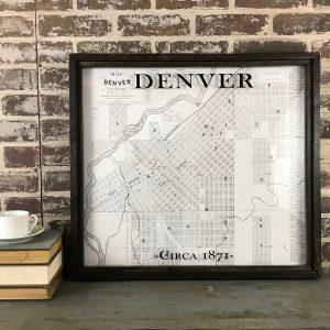 Vintage Denver Map