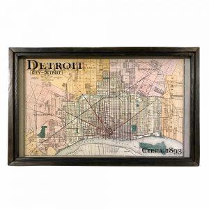 Detroit vintage map