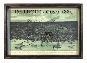 vintage Detroit map