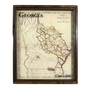 antique Georgia map