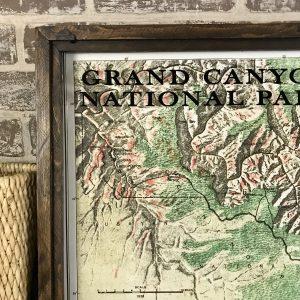 Grand Canyon Vintage Map