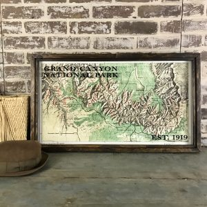 Grand Canyon Vintage Map