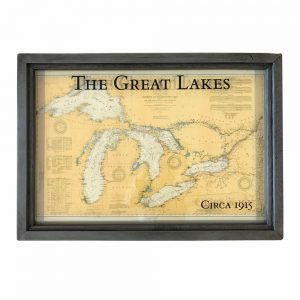 vintage Great Lakes map