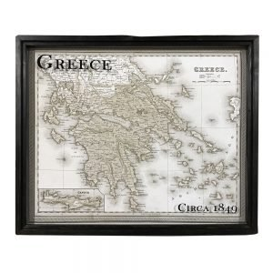 vintage Greece map