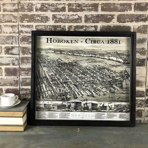 vintage Hoboken map
