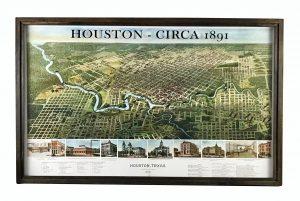 Vintage Houston Map
