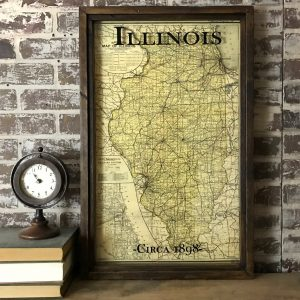 Vintage Illinois map