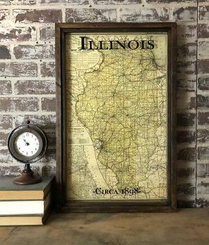 Vintage Illinois map