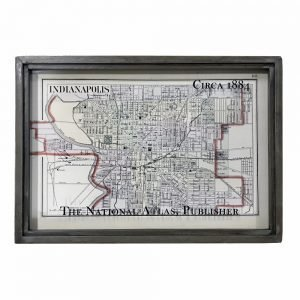 vintage Indianapolis map