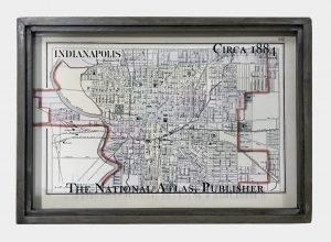 vintage Indianapolis map