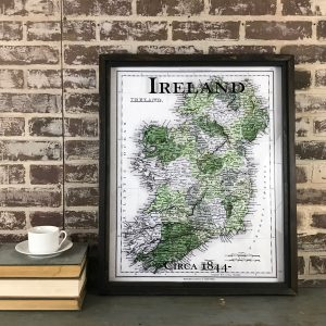 Vintage framed Ireland Map