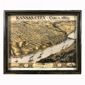 Vintage Kansas City map