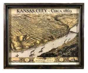 Vintage Kansas City map