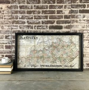 Vintage Kentucky map