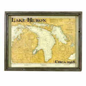 vintage Lake Huron map