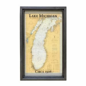 Vintage Lake Michigan Map