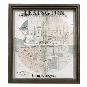 vintage Lexington map