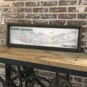 antique Long Island map