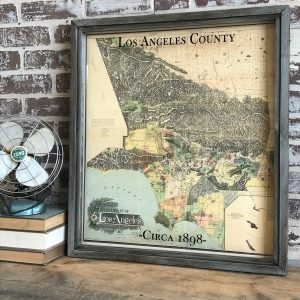 Vintage Los Angeles County map