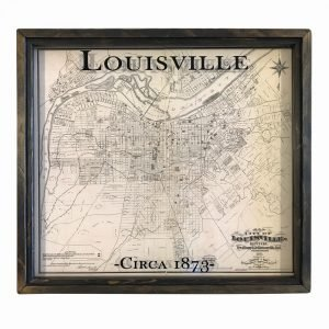 vintage Louisville map