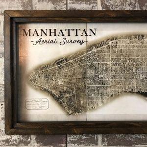 Manhattan Aerial Photo Collage Map
