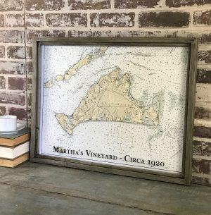 vintage Martha's Vineyard map
