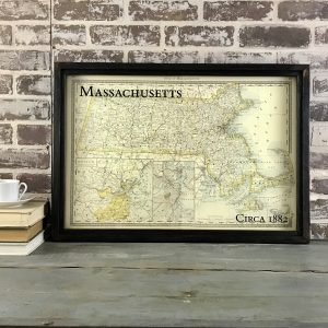 Vintage Massachusetts map