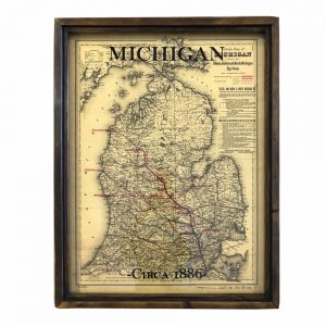 antique Michigan map