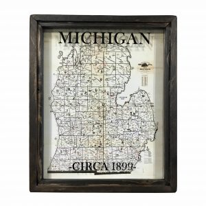 old Michigan map