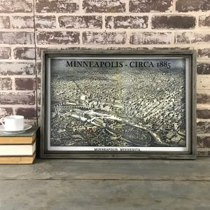 Antique Minneapolis map