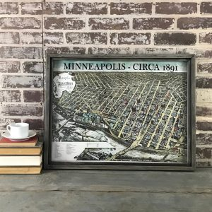 Vintage Minneapolis Map