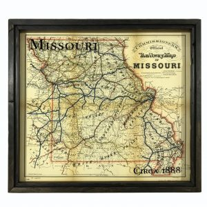 Vintage Missouri Map