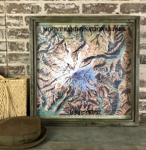vintage Mount Rainier map