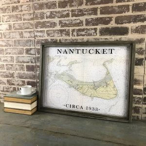 vintage Nantucket map