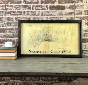 antique Nashville map