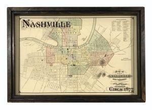 Vintage Nashville Map