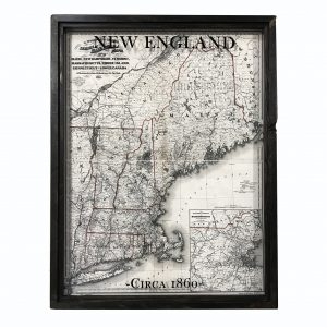 Vintage New England map