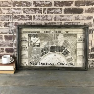 Antique New Orleans map