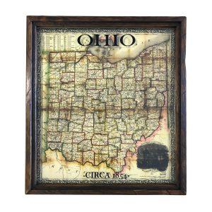 Vintage Ohio map