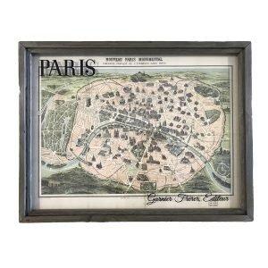 Vintage Paris Monument Map