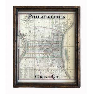 Vintage Philadelphia Map