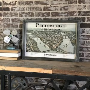 Vintage Pittsburgh Map