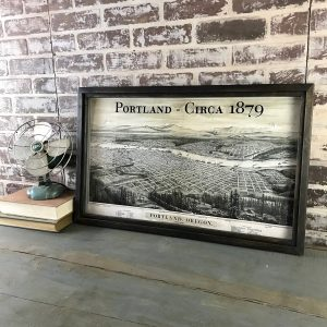 Vintage Portland Oregon Map