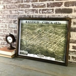vintage Raleigh map