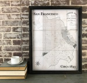 vintage San Francisco map