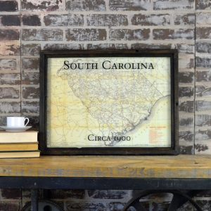 Vintage South Carolina map