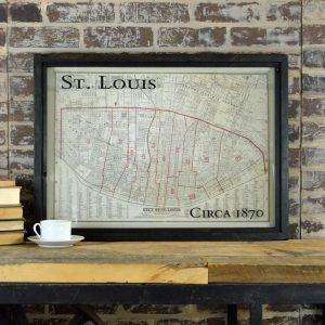 Vintage St Louis Map