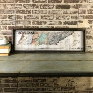 Framed Vintage Tennessee map