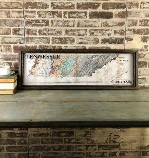 Framed Vintage Tennessee map